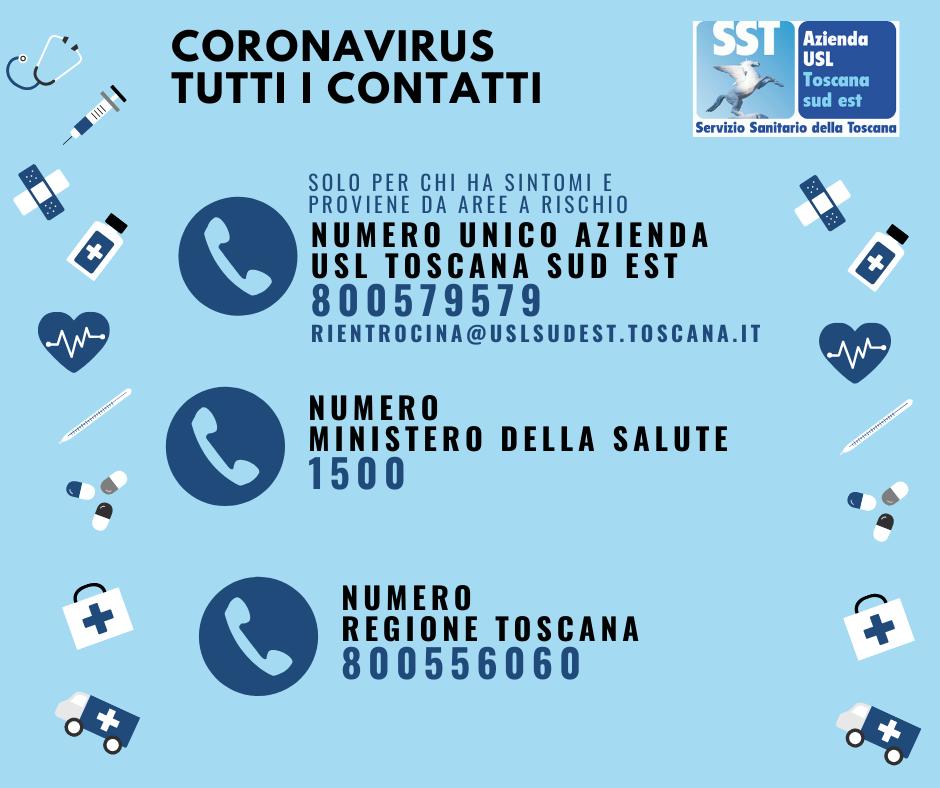 coronavirus toscana